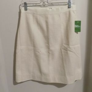 KATE SPADE Helena Safari Cream A-Line Skirt, 6 NEW